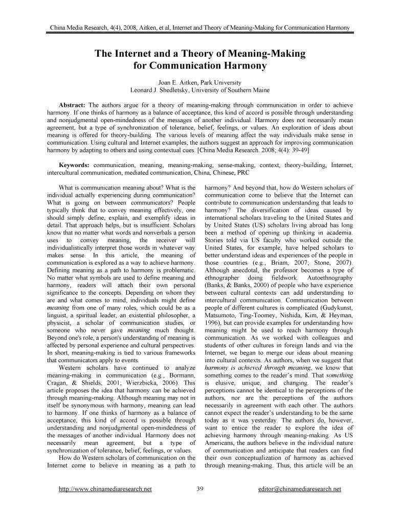 China Media Research Vol 4 No 4